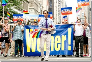 Anthony Weiner marches in 2013 Gay Pride March in NYC