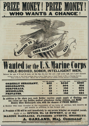 Civil War. Marine recruitment