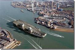 HMSQueenElizabethLeavngPort