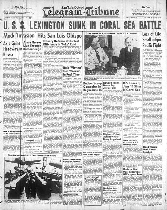 1942-06-12-Lexington-sunk