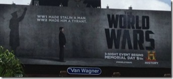 World Wars billboard