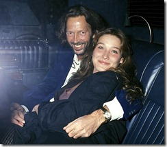 "Singer Eric Clapton and model Carla Bruni arrive at ""Bill Wyman'"