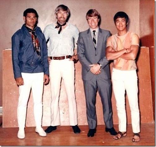 Mike Stone James Coburn  Chuck Norris  Bruce Lee