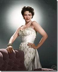 Colorization of black and whtie photo of Yvonne Decarlo