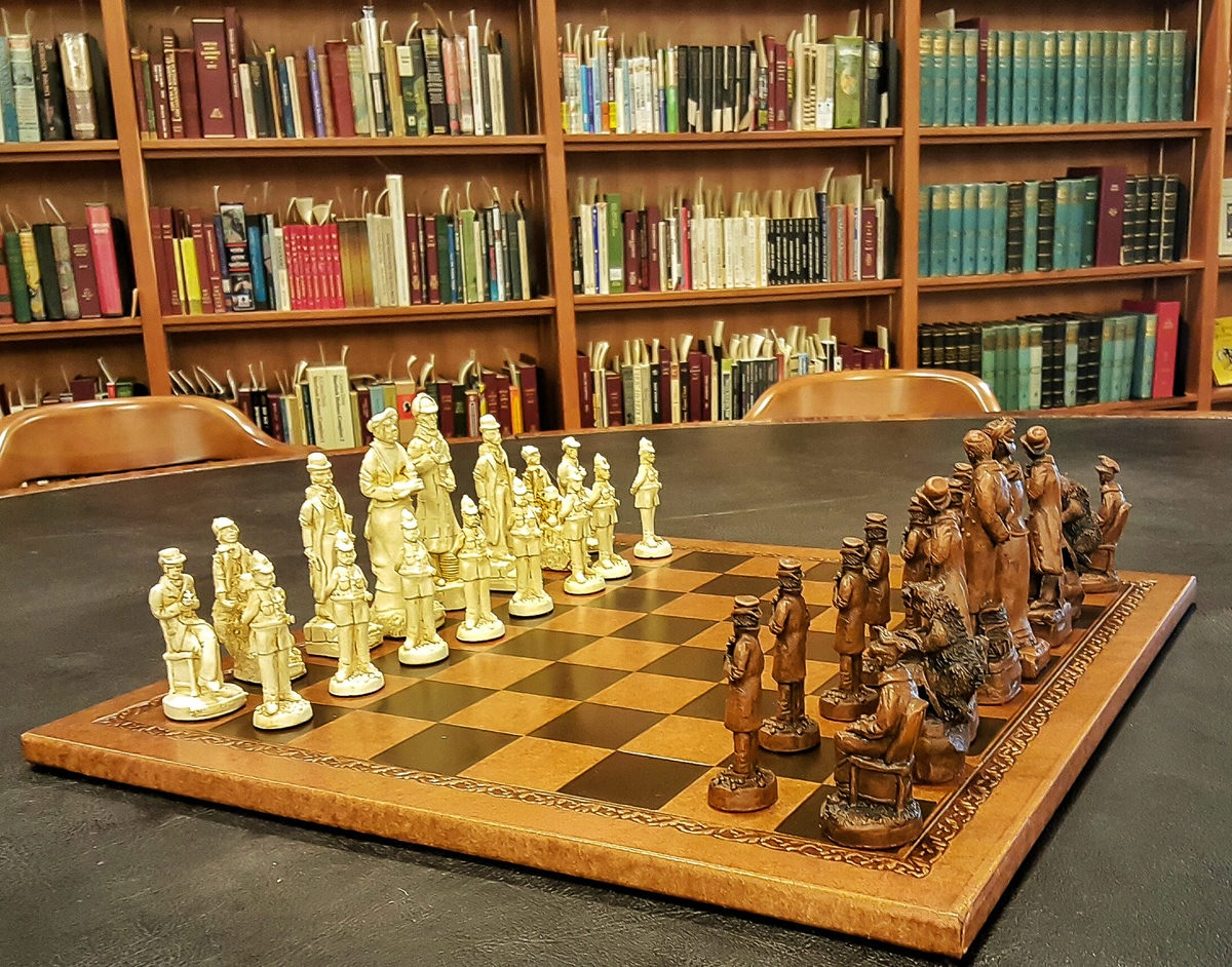 Arthur Conan Doyle Room chess set Toronto Reference Library.jpg