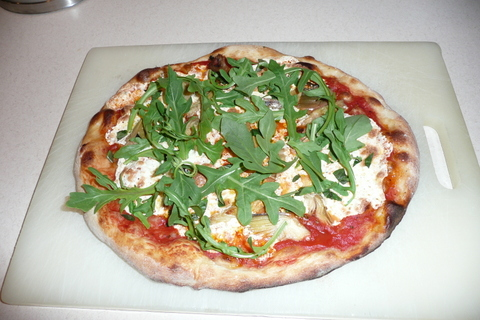 Artichoke and arugula pizza.jpg