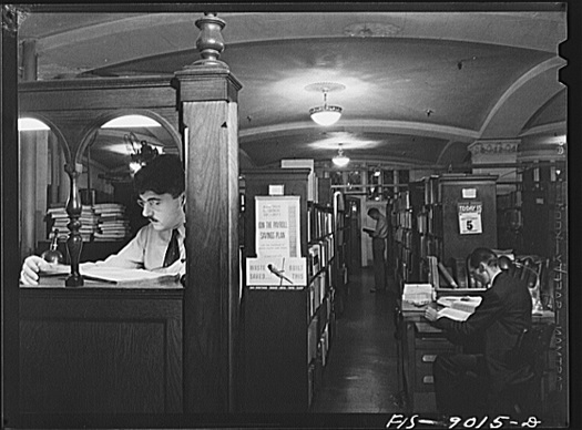 Library of NY Times, 1942.jpg