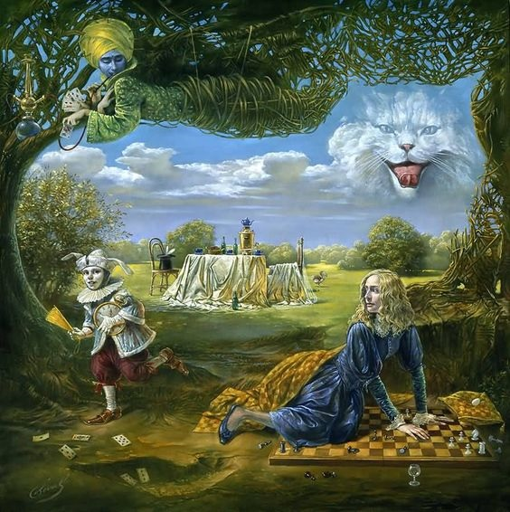 Michael Cheval - Wake up call in wonderland.jpeg