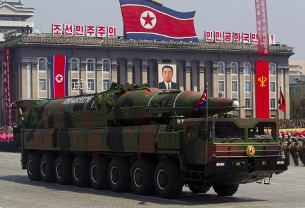 North Korea show the KN-08 missiles  intercontinental ballistic missile (ICBM)   South Korean media quoted sources as saying the missile diameter of 2 meters, 18 meters long, (1) (440x300).jpg