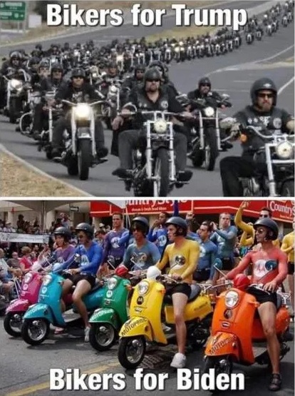 compare and contrast - bikers for Trump v Biden.jpg