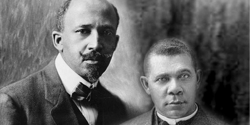 the two leaders of the black america booker t washington and w e b du bois The two documents booker t washington's atlanta exposition and we b du bois's critique of booker t washington's atlanta exposition as it relates to rhetoric and the audience was quite interesting reading on a couple of levels.